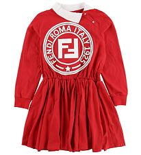 Fendi Kids Dress - Red/White
