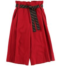 Fendi Kids Trousers - 3/4 - Red w. Belt