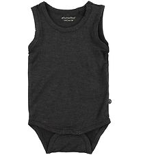 Minymo Bodysuit Sleeveless - Bamboo - Dark Grey