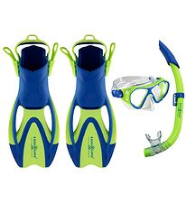 Aqua Lung Diving Set - Urchin Jr - Blue/Lime