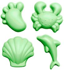 Scrunch Sand Molds - 4 pcs - Silicone - 6,5-10,5 cm - Green