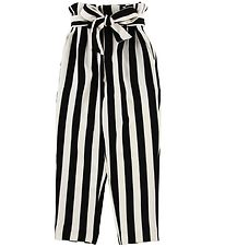 Hound Trousers - White/Black Striped