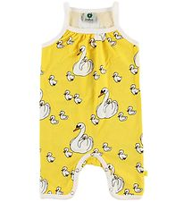 Småfolk Summer Romper - Yellow w. Swans