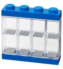 Lego Storage Mini Figurines Display - 8 Room - 19 cm - Blue
