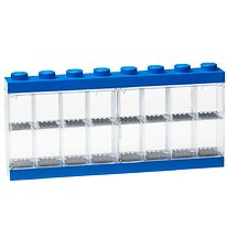 Lego Storage Mini Figurines Display - 16 Room - 38 cm - Blue