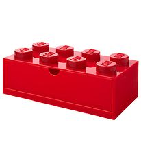 Lego Storage Storage Drawer - 8 Knobs - 31x15x9 - Red