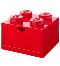 Lego Storage Storage Drawer - 4 Knobs - 15x15x9 - Red