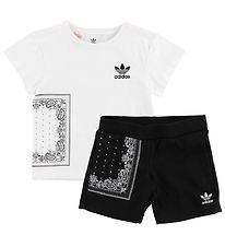 adidas Originals T-shirt Set - Bandana - White Black