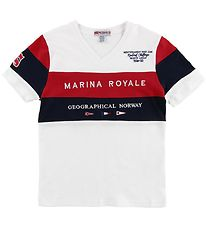 Geographical Norway T-shirt - Jartimi - White w. Print