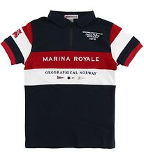Geographical Norway Polo - Kartimi - Navy w. Print
