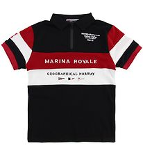 Geographical Norway Polo - Kartimi - Black w. Print