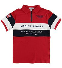 Geographical Norway Polo - Kartimi - Red w. Print