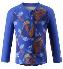 Reima Swim Top L/S - Tuvalu - UV50+ - Blue w. Fish