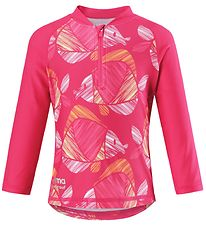 Reima Swim Top L/S - Tucvalu - UV50+ - Pink w. Fish