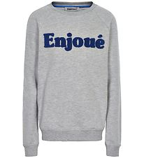 Cost:Bart Sweatshirt - Fanny - Grey Melange w. Text