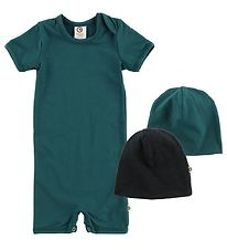 Müsli Summer Romper/Beanie - Dark Green