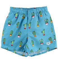Arena Swim Trunks - Bahamas Jr - Light Blue w. Cactus