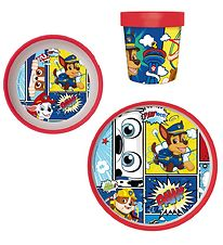 Paw Patrol Dinner Set - 3 pcs - Marshall, Rubble & Chase