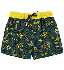 Billabong Swim Trunks - Adventure Island - Black/Yellow