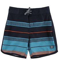 Billabong Swim Trunks - 73 Stripe - Navy/Orange