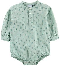 Noa Noa Miniature Bodysuit L/S - Dusty Green w. Print