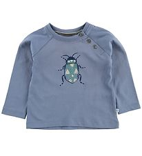 Noa Noa Miniature Blouse - Dusty Blue w. Beetle