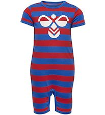 Hummel Summer Romper - Red - Red/Blue Striped w. Logo
