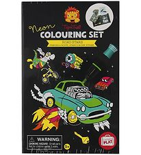 Tiger Tribe Colouring Set - Neon - Road Stars