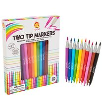 Tiger Tribe Markers - 10 pcs - Two Tip