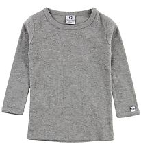 Smallstuff Blouse - Grey Melange w. Pointelle