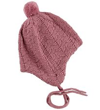 Reima Hat w. Pom-Pom - Wool/Cotton - Lintu - Rose