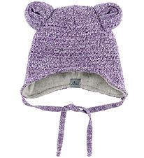 MP Hat w. Ears - Wool/Polyamide - Purple/Glitter