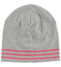 MP Beanie - Grey Melange/Rose Striped