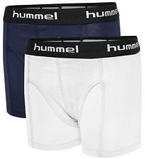 Hummel Boxers - 2-Pack - White/Navy