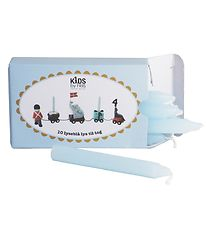 Kids by Friis Light til Birthday Train - 10 pcs - Light Blue
