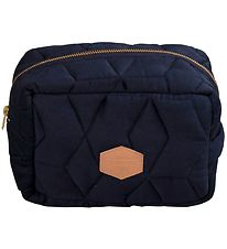 Filibabba Cosmetic Bag - Quilted - Dark Blue
