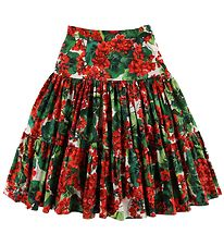 Dolce & Gabbana Skirt - Portofino - Red/Green Flowers