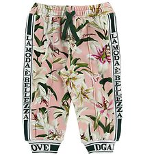Dolce & Gabbana Trousers - Lilium - Rose/White Lilies