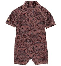 Soft Gallery Coverall Swimsuit - Rey - UV50 - Burlwood Owl