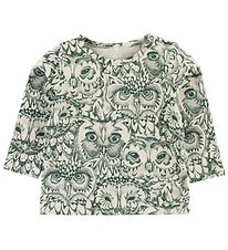 Soft Gallery Blouse - Bella - Ivory - Dark Green Owls