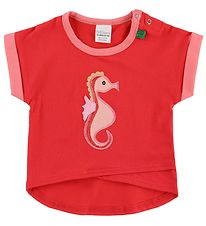 Freds World T-shirt - Red w. Seahorse