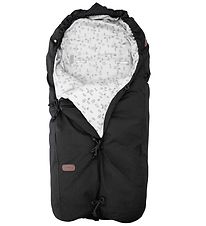 Voksi Stroller Sleeping Bag - Classic+ - 80/110 cm - Black/White
