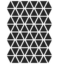 ferm Living Wallstickers - Triangles - Black