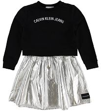 Calvin Klein Dress/Sweatshirt - 2 In 1 - Black/Silver