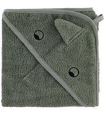 Liewood Hooded Towel - Albert - 70x70 - Dino - Faune Green