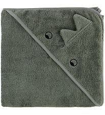 Liewood Hooded Towel - Augusta - 100x100 - Dino - Faune Green