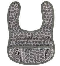 Smallstuff Bib w. Food Catcher - Leopard