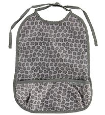 Smallstuff Bib w. Food Catcher - Long - Leopard