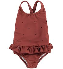 Liewood Swimsuit - UV50+ - Amara - Red/Dots