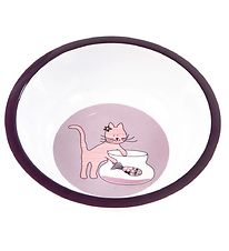 Smallstuff Bowl - Melamine - Purple w. Cat